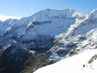 Dal colle Chaparelle il monte Cresto e il lago della Vecchia