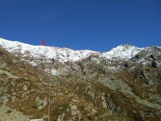 Dal rifugio della Vecchia: punta Chaparelle e via di salita