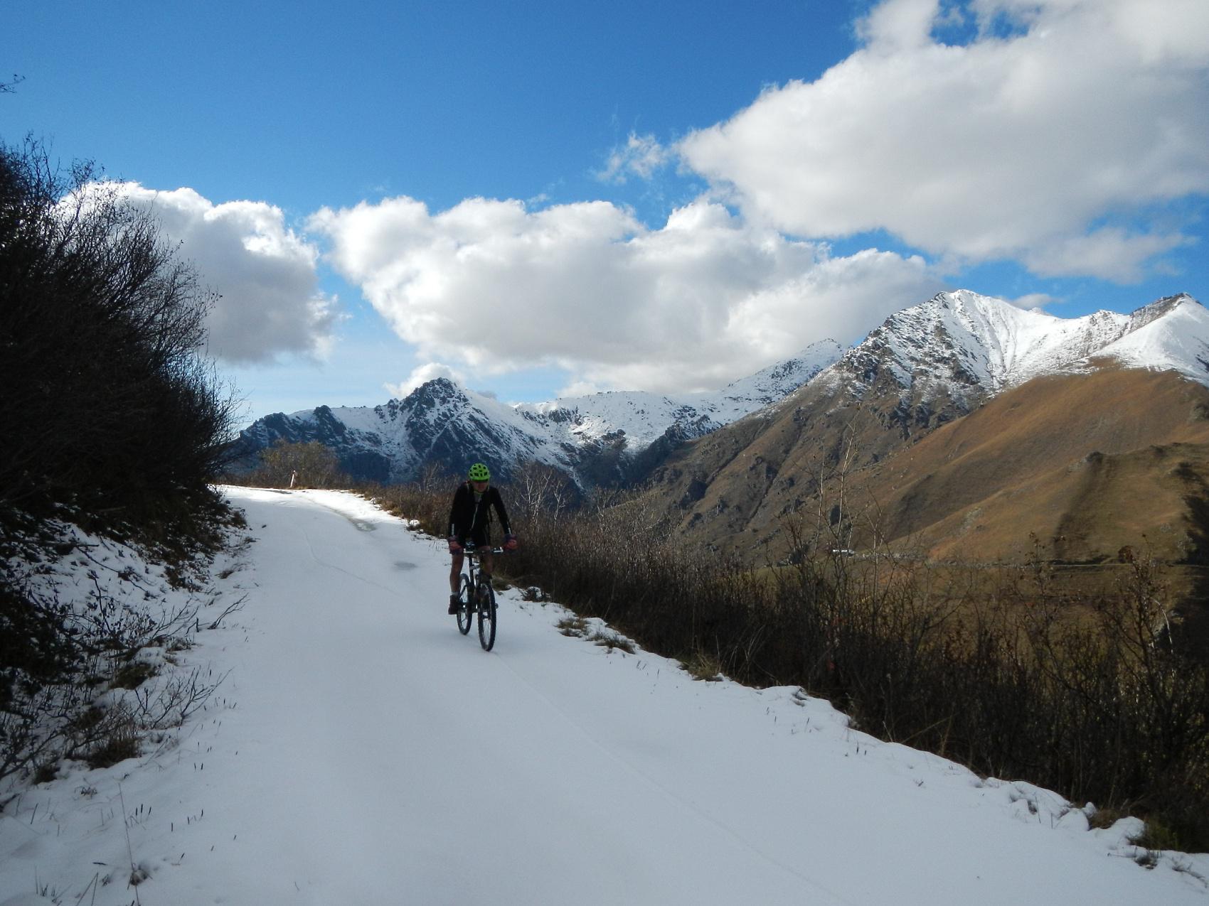 in pieno nord neve dura e ghiacciata....