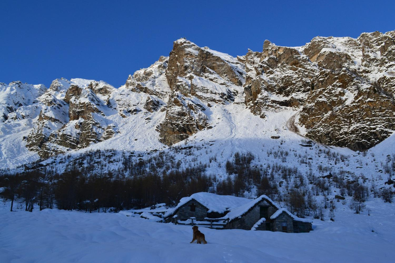 Alpe Stalletto con la Punta Valgrande sullo sfondo