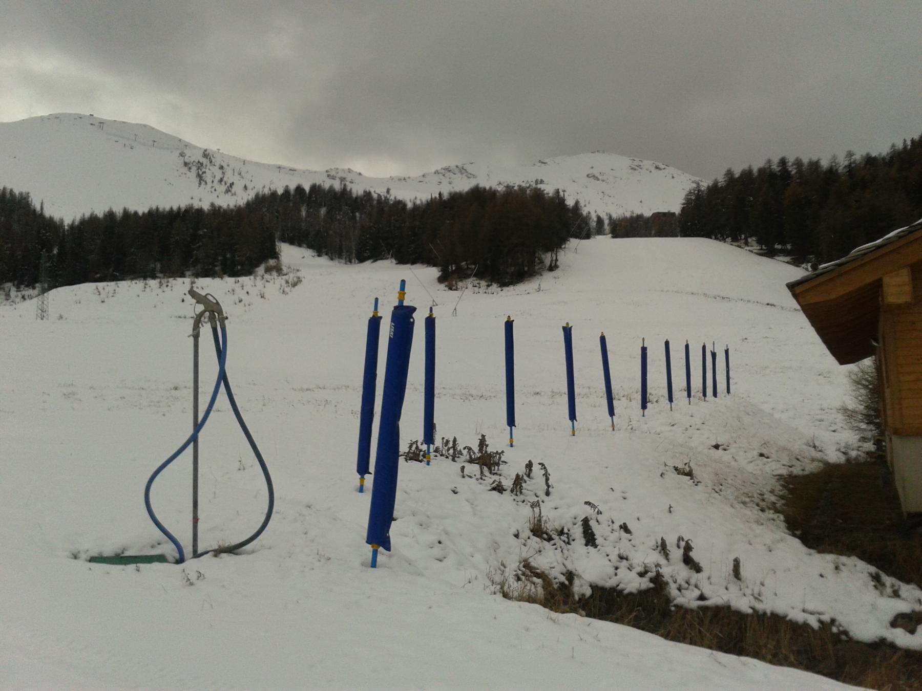 la neve inizia da qui