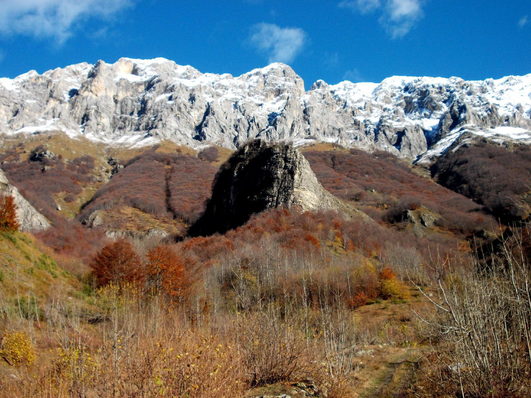 Pianard (Monte) da Trinità per il colletto del Cayre di Porcera 2014-11-13