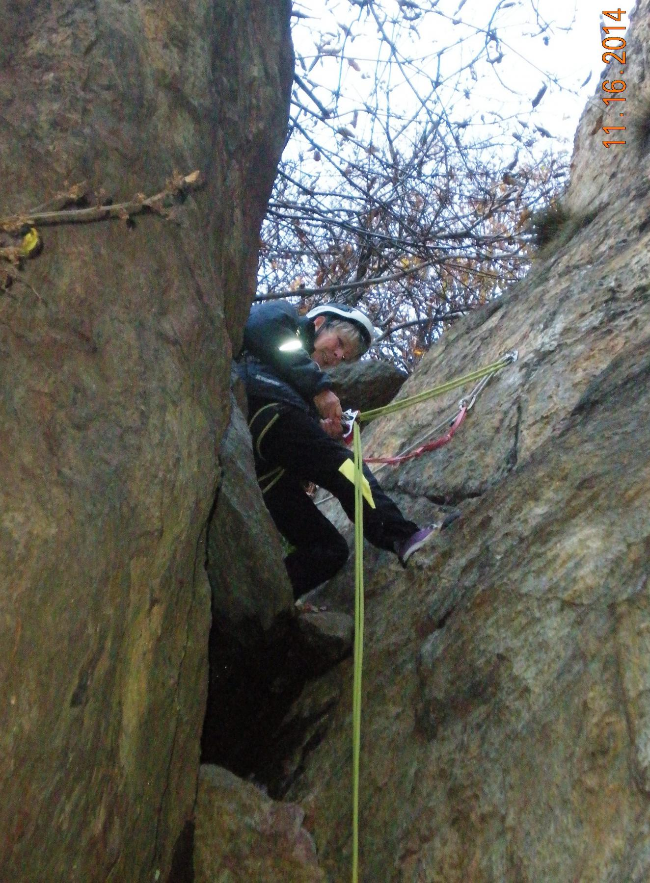 Idalba prepara la doppia nel canyon