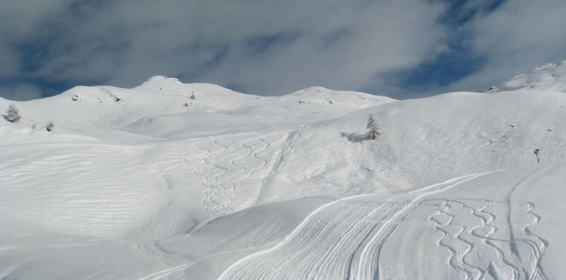 ottima neve verso Chamois