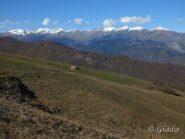 Prati, caselle, Alpi Liguri innevate