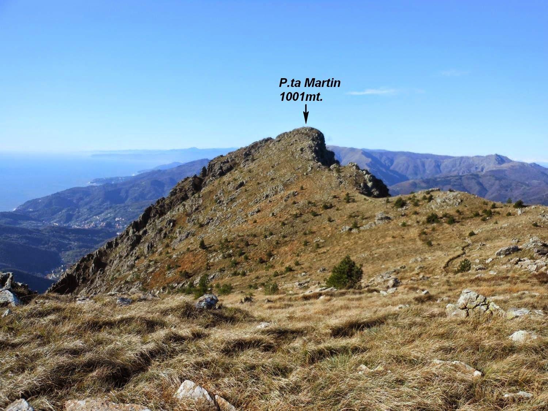 La P.ta Martin vista dal M.Piazza 999mt.