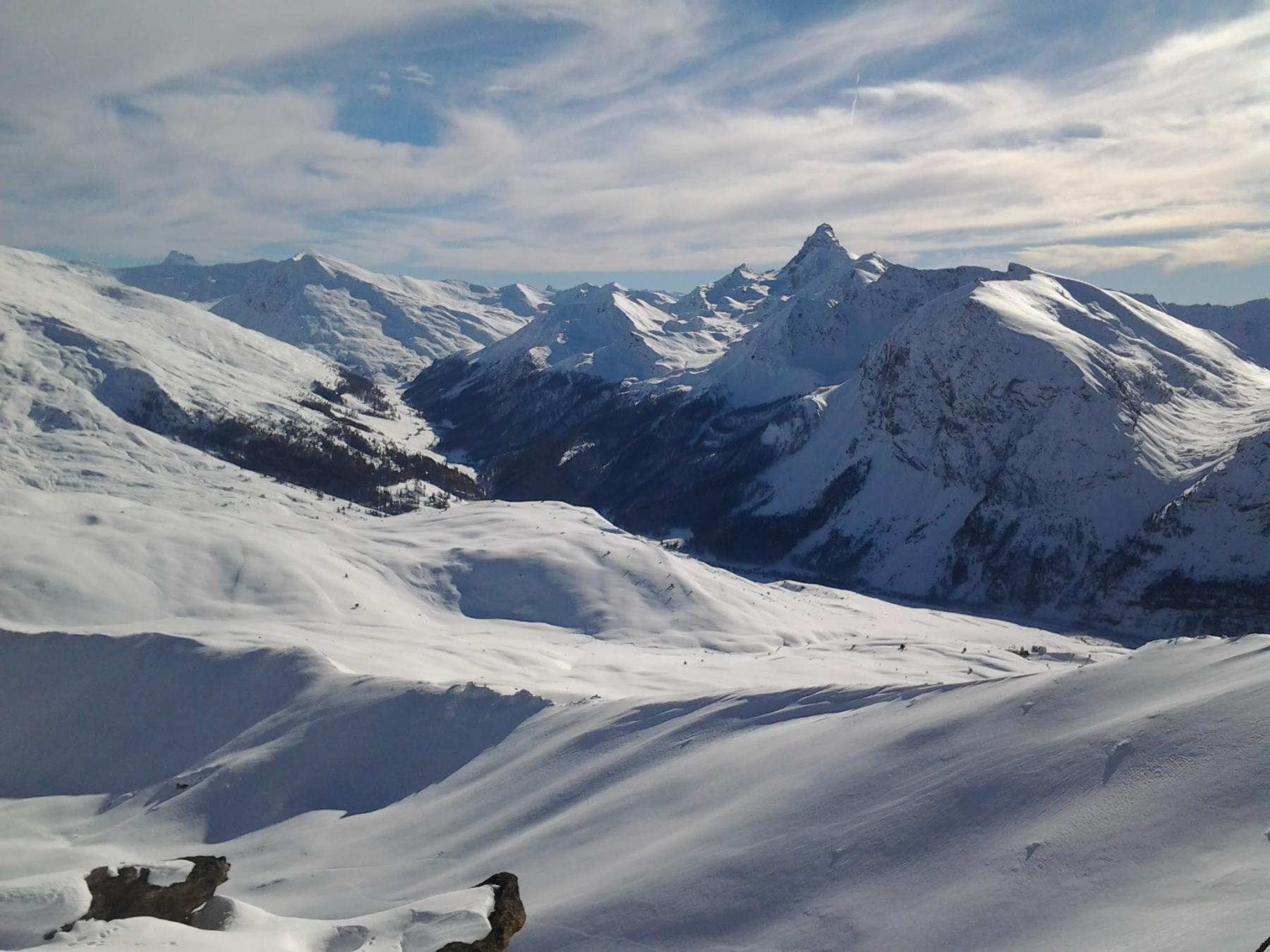 Pic de Rochebrune e Monviso che sbuca a sinistra