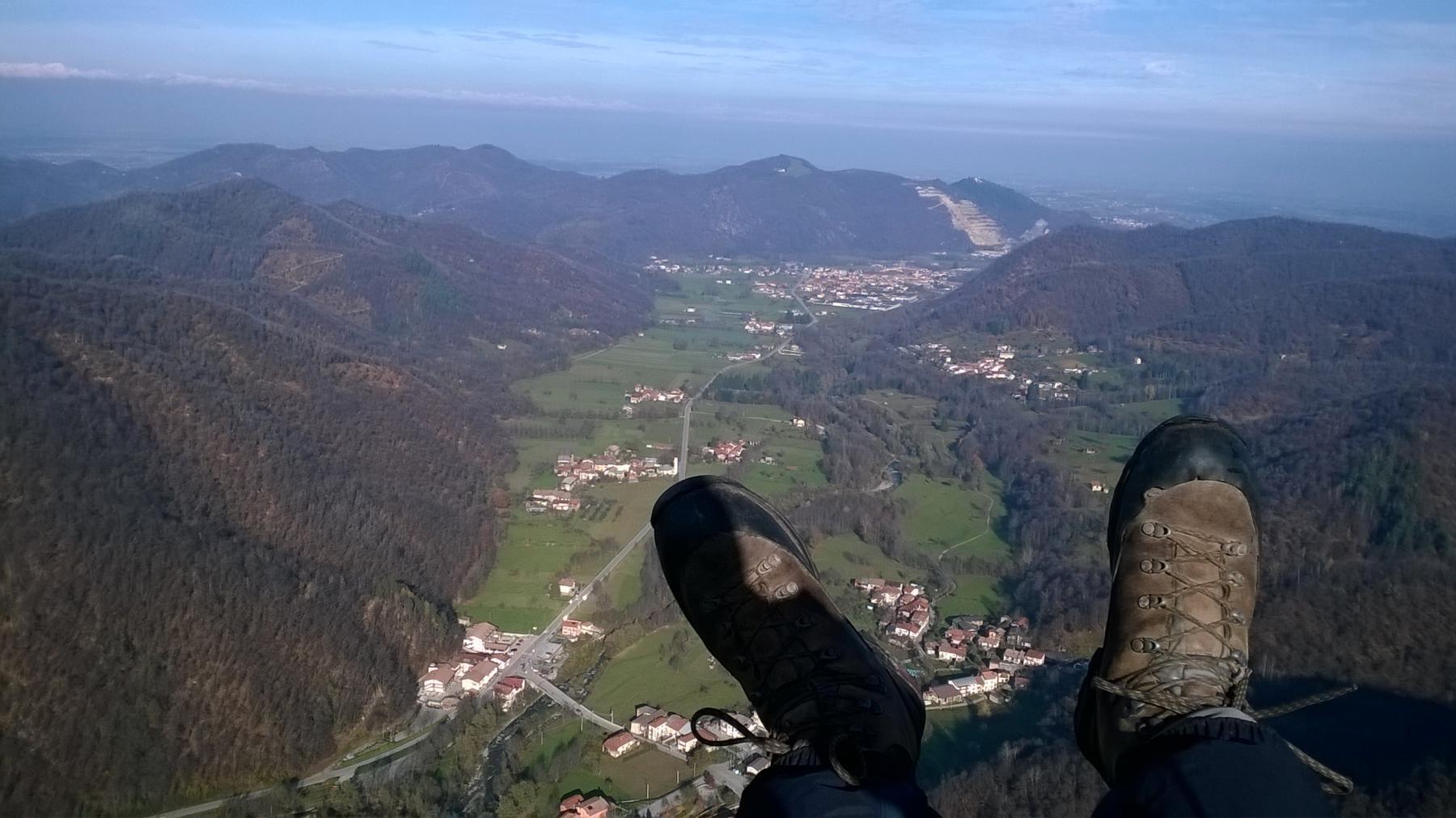 Trucca della Tura volo su valle ellero 2014-11-21