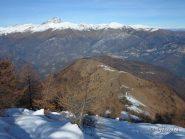 Il panoramico percorso e l'inizio della neve alle Grange Fumei