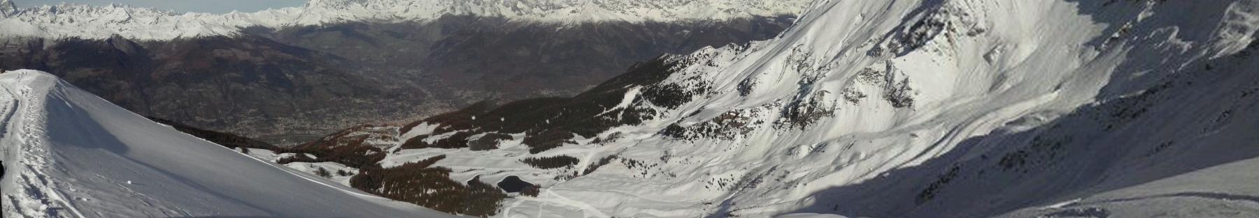 panorama su Aosta   dalla vetta...