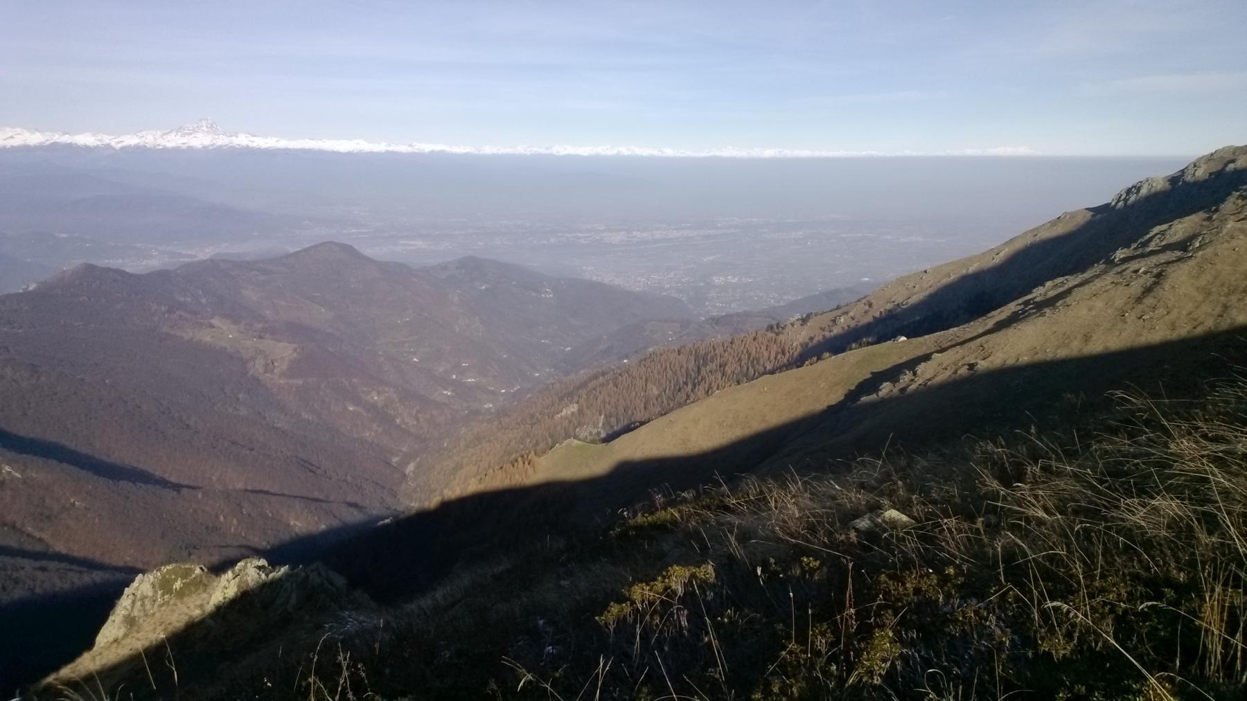 Panorama sulla bassa da quota 1.950