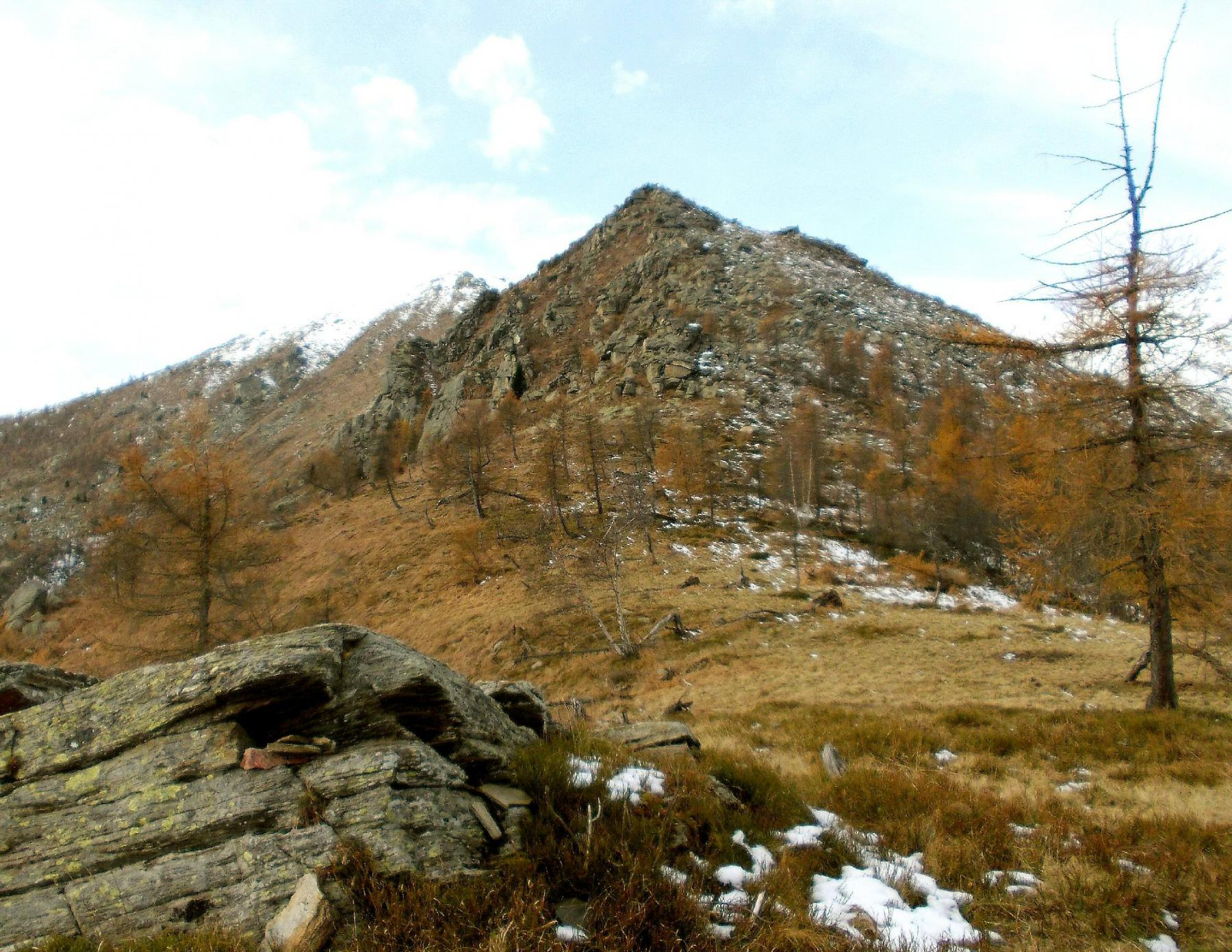 la cima vista dal Bric Arcet