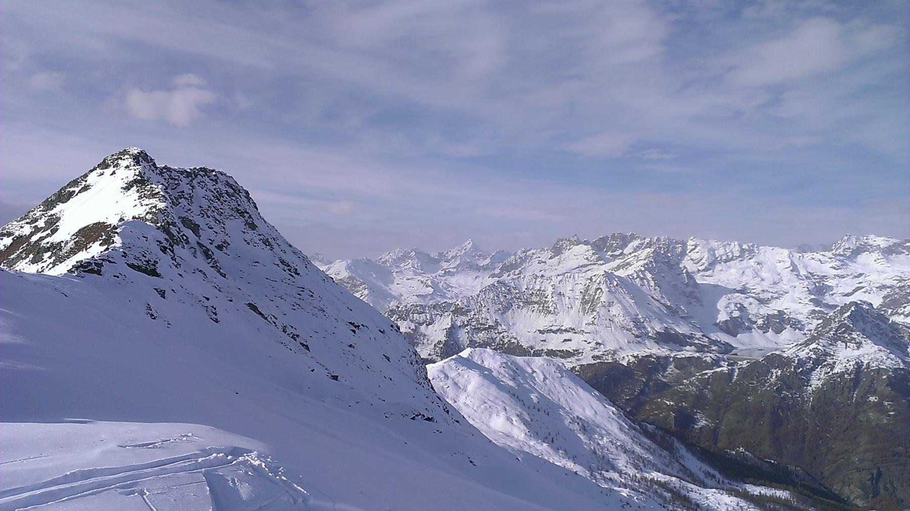 La cresta Est della Falinere, dal colle Croux