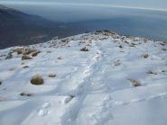 La neve sul tratto finale