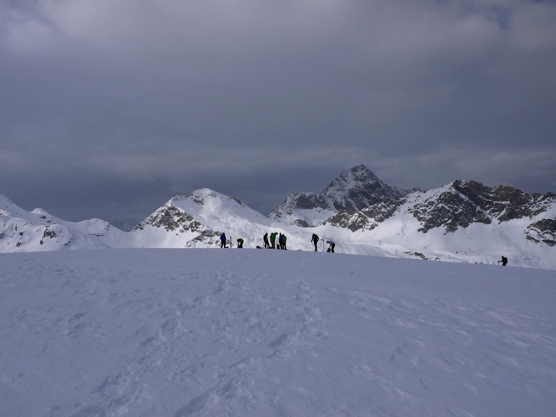 Sulla cima del Mont Rascias