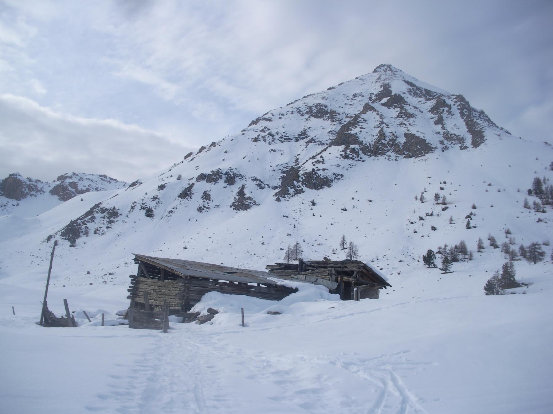 Il Gran Peygu dai Chalets d'Izoard..