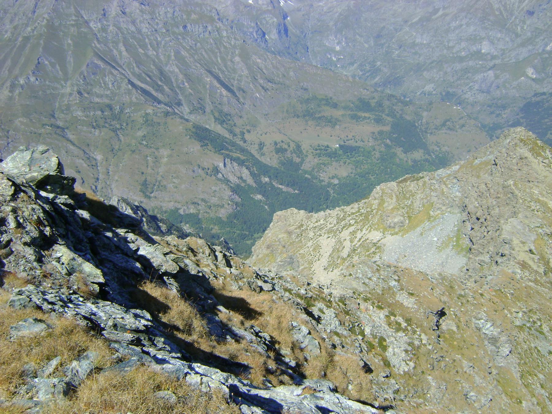 la punta della Forcola vista dalla Rocca del Forno