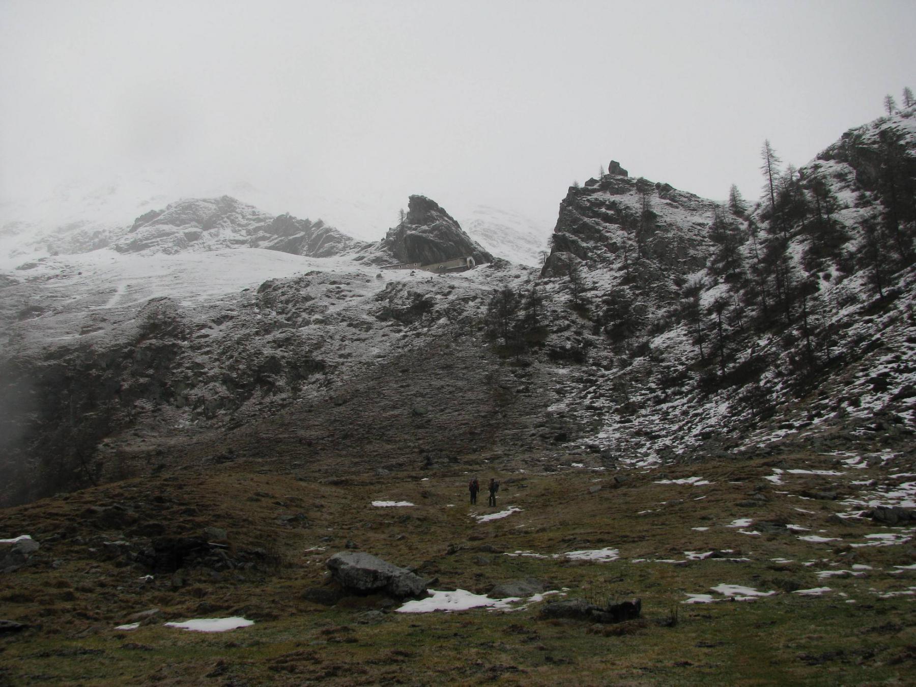 In vista di san Besso, dal piano del Ciavanis