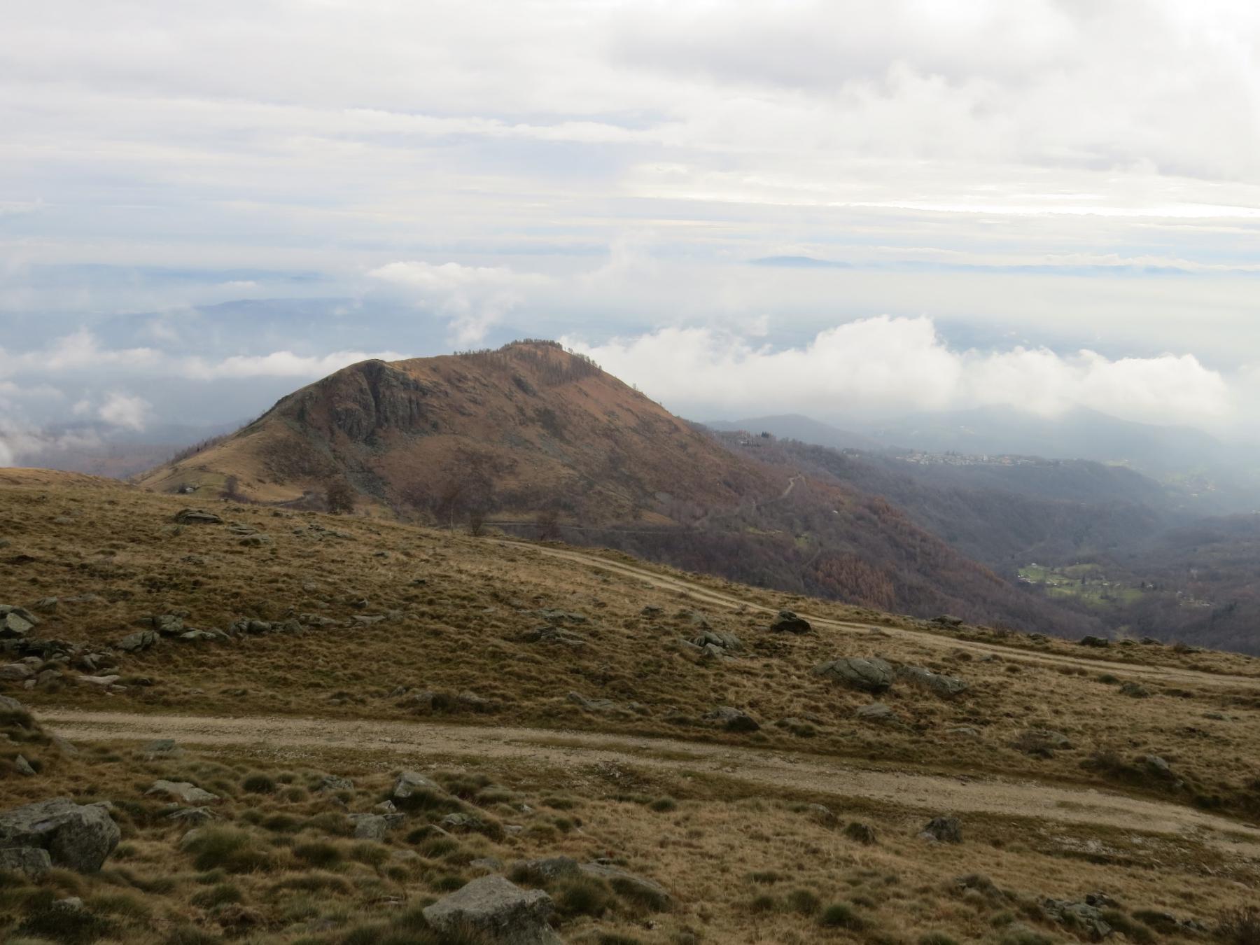 In discesa verso il Monte Calvo