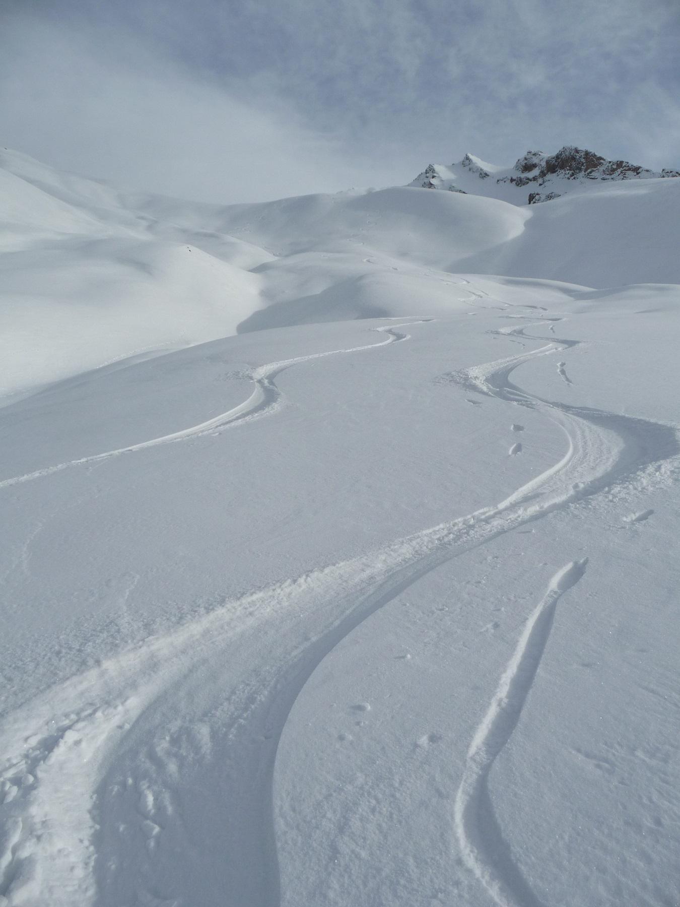 Rientro per il Ravin de l'Alpet