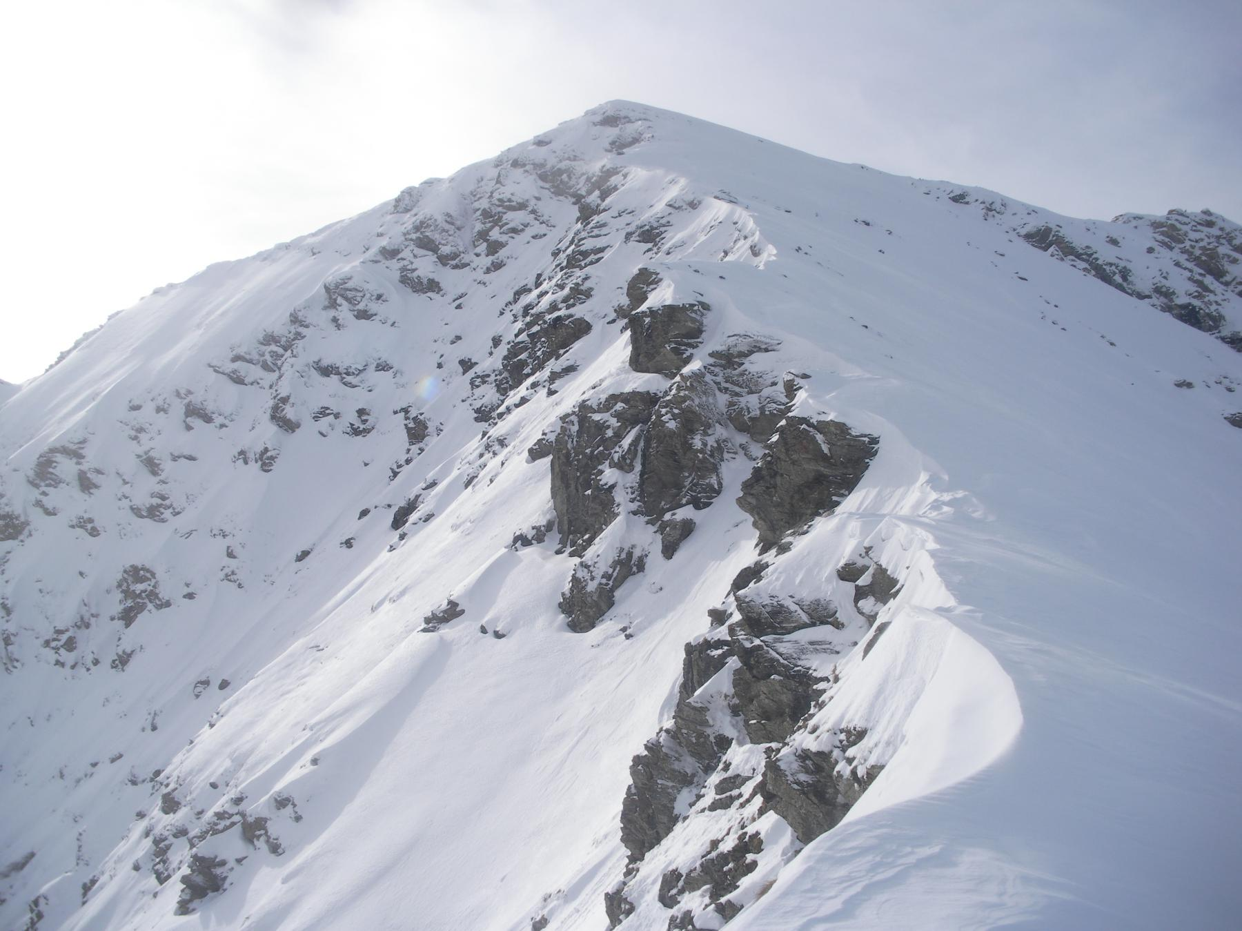 Cialancio d'Ane quota 2784 m da Laux, pendio nord 2014-12-08