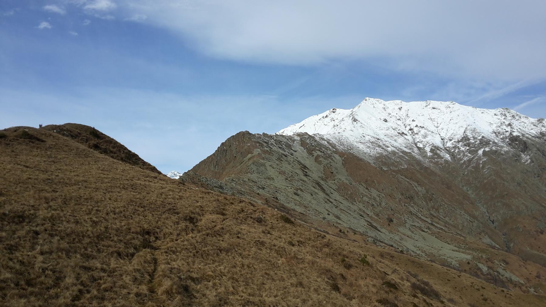 Come si presenta la cresta dalla cima di Costaforita