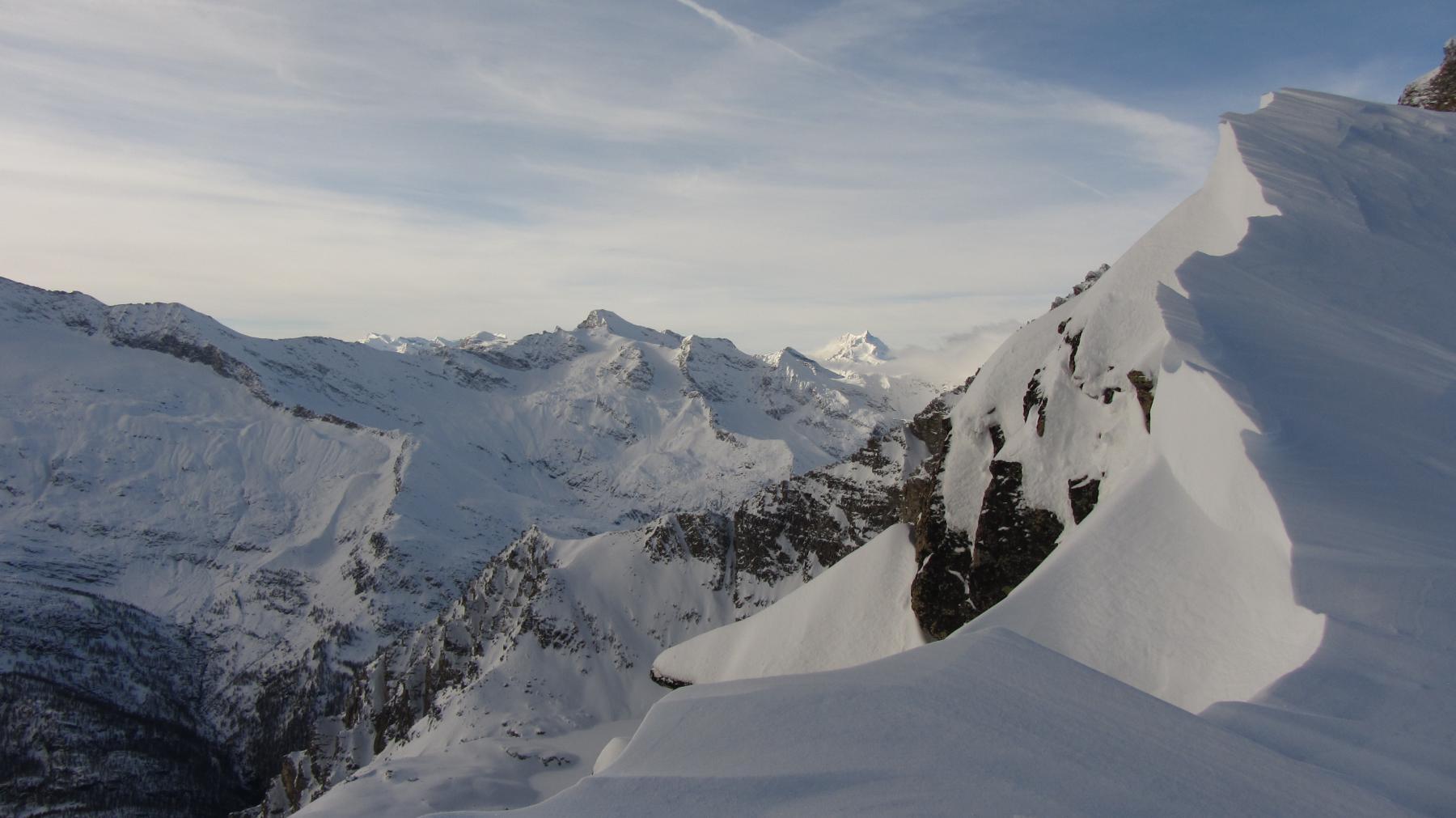 Bel punto di vista sul vallone del Carro e la Grande Aiguille Rousse