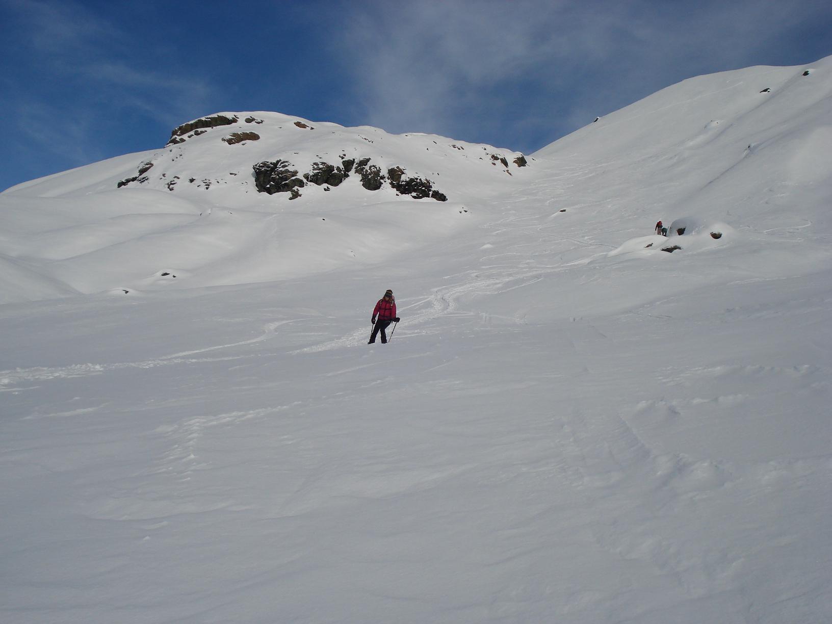 discesa molto buona su neve prevalentemente farinosa