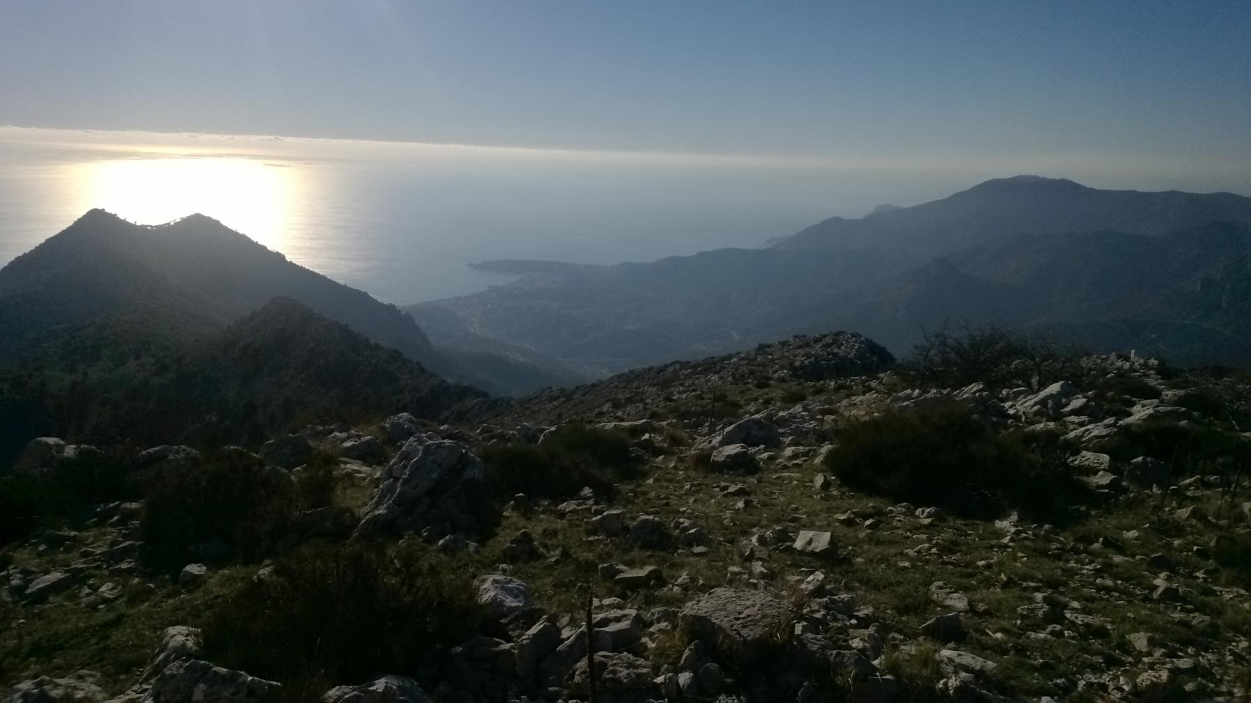 ... e infine panorama sulla costa azzurra