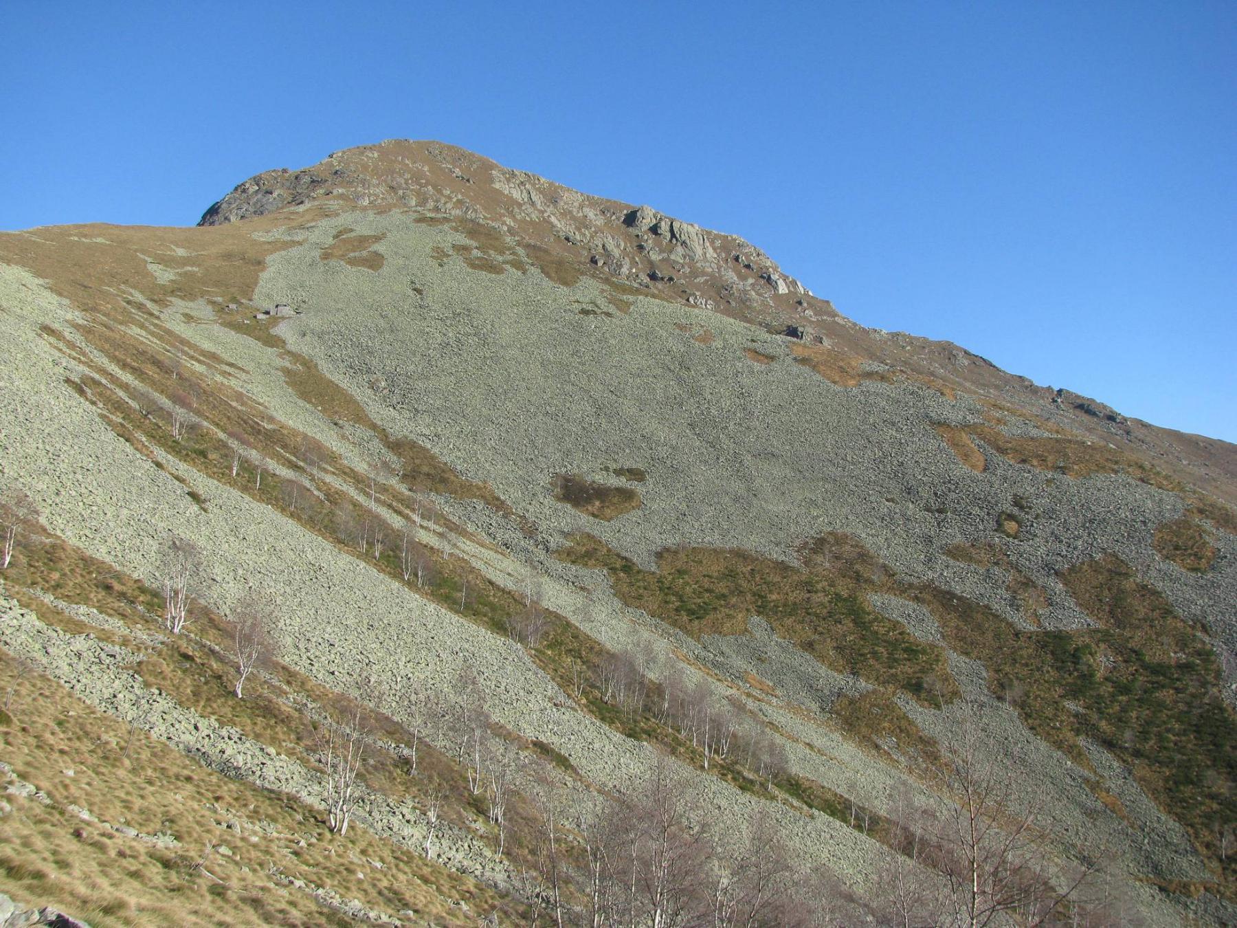 Monte Gregorio, salendo alla Torretta delle Cime