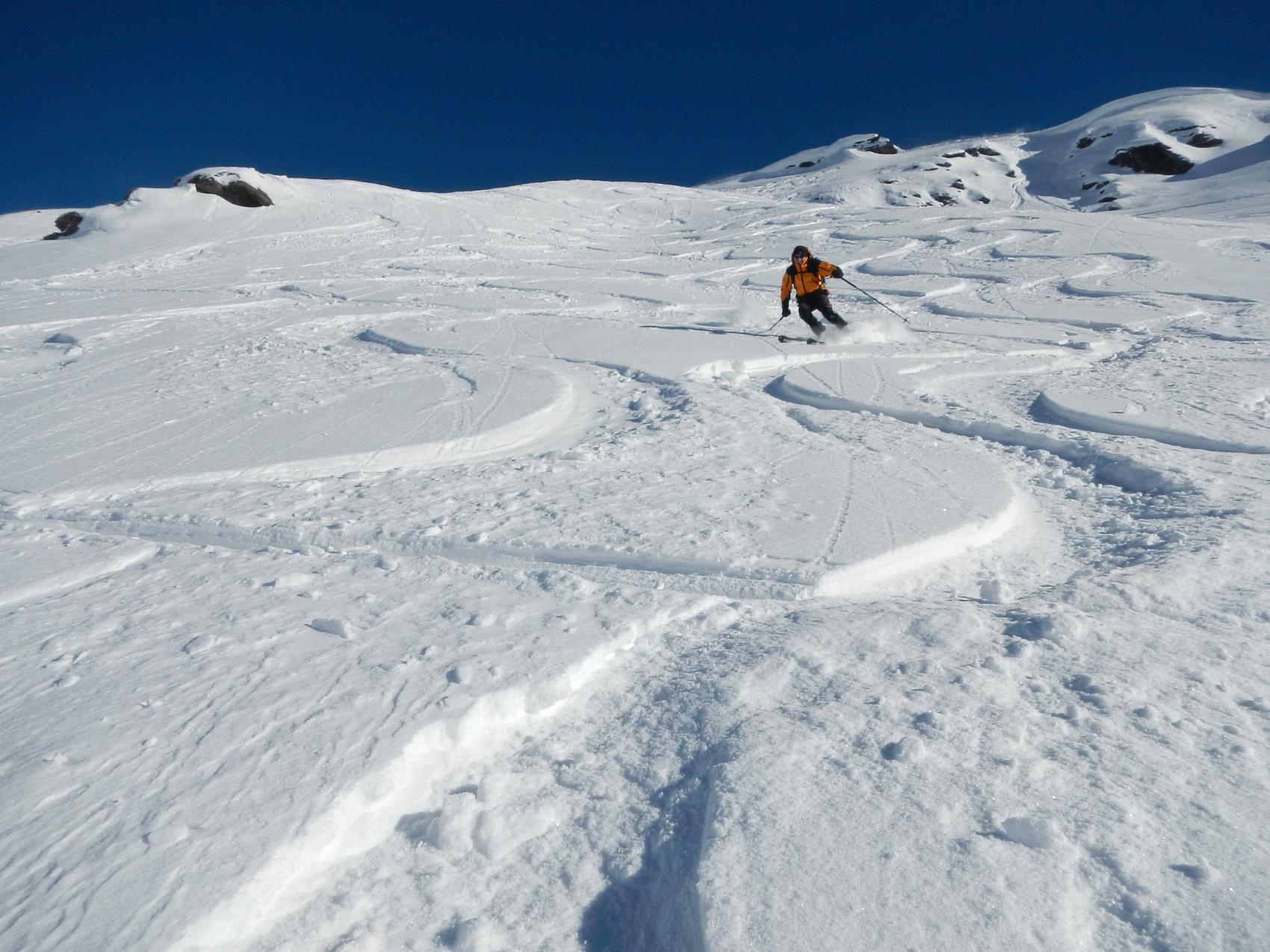 Trécare (Becca), spalla Ovest 2852 m da Cheneil 2014-12-11