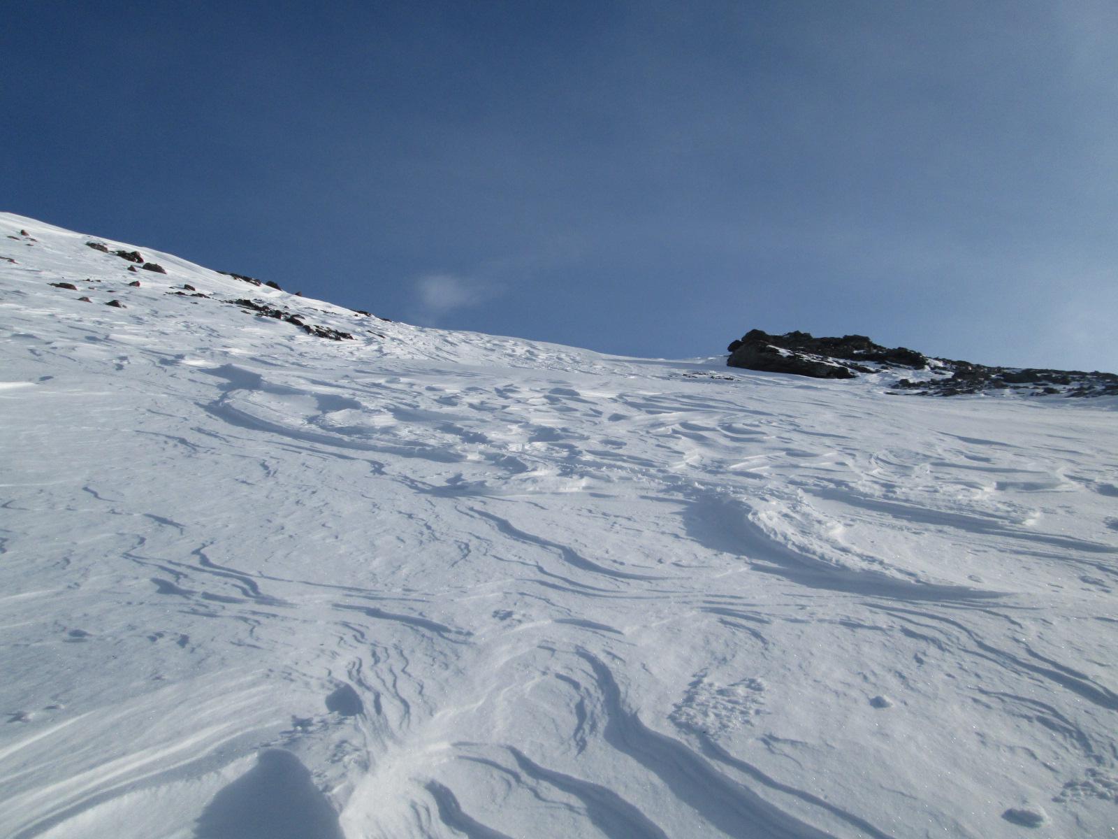le condizioni della neve