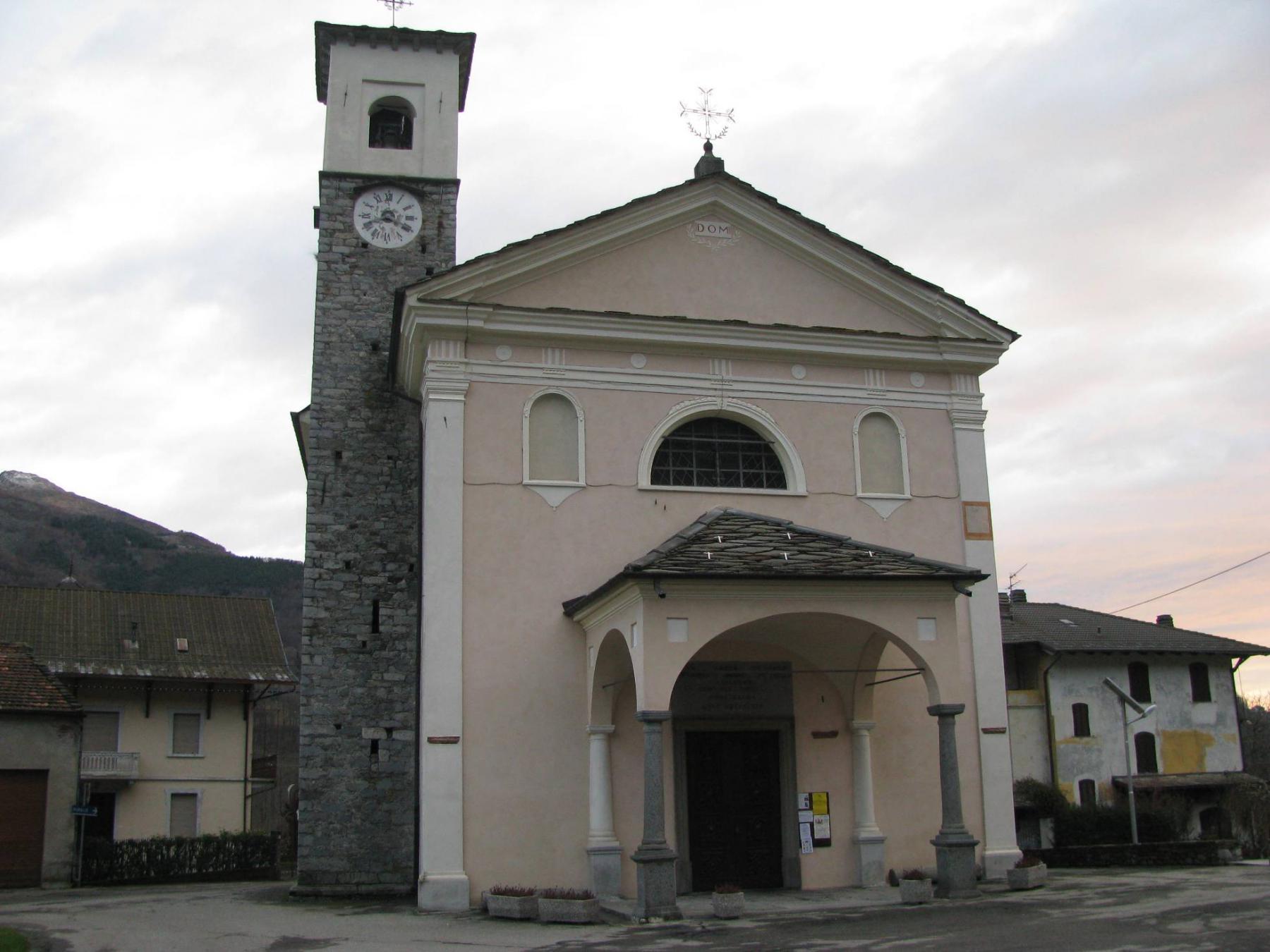 Chiesa di Trausella; punto di partenza