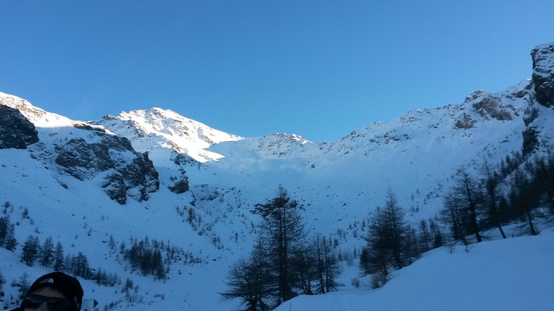Rognosa (al sole) e monte Sotto Rognosa a destra