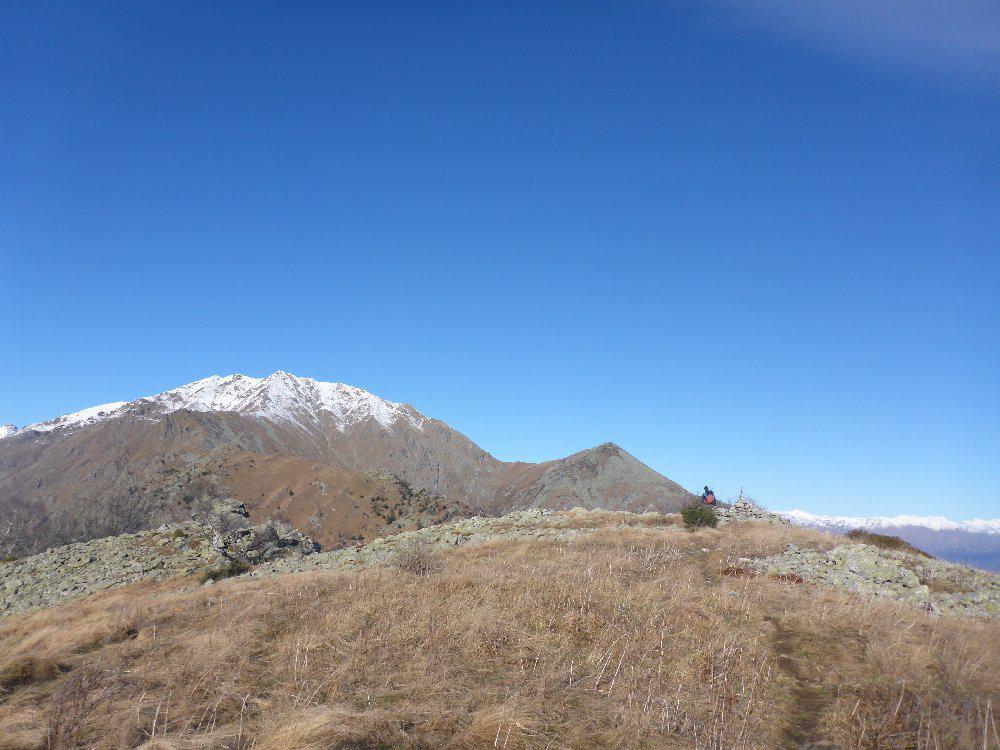 Arrivo al Monte Sapei, neve sul Civrari, Rognoso pulito