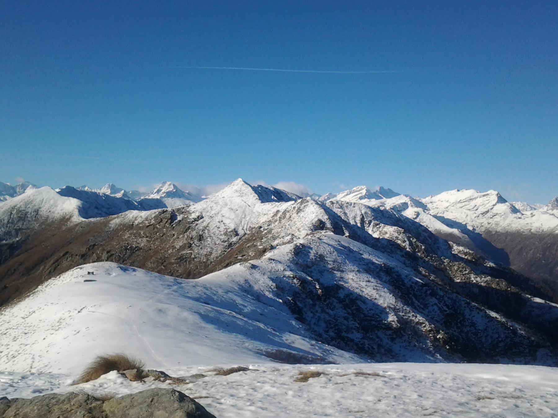 poca neve verso l'alta valle
