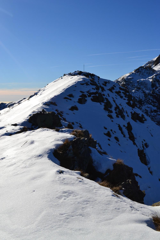la breve cresta per raggiungere la cima