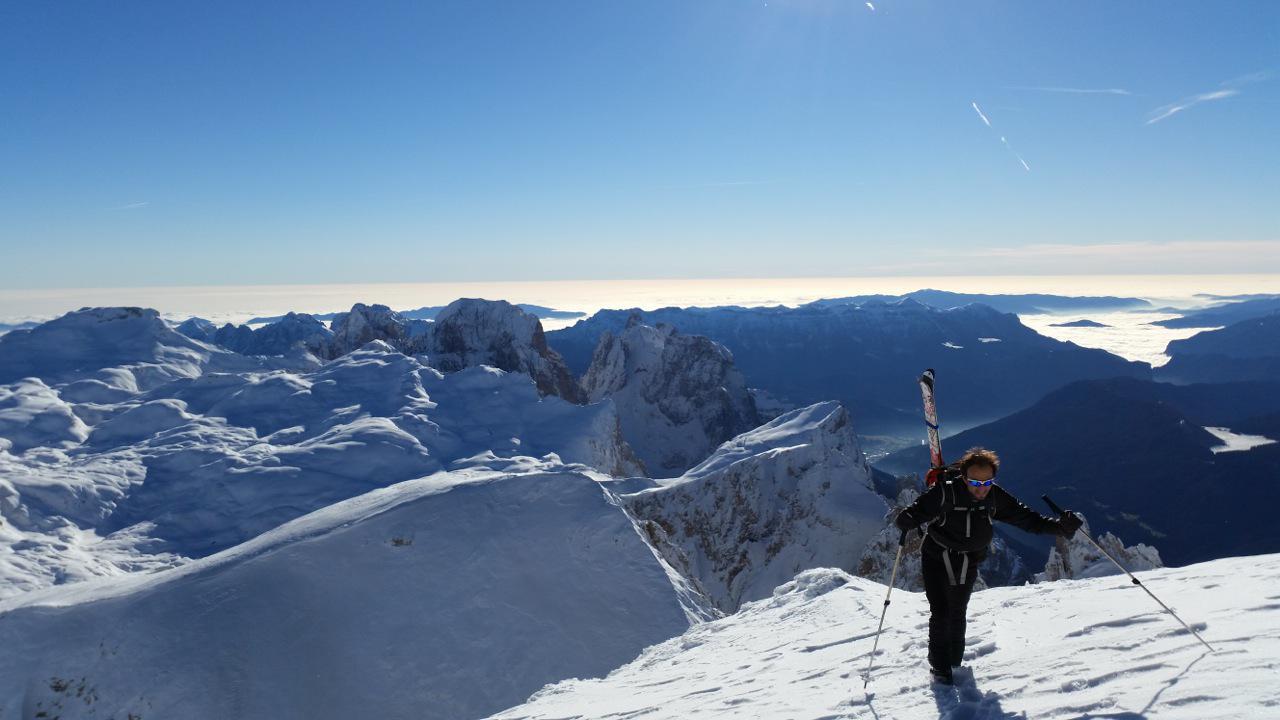 Vezzana (Cima) dal Rifugio Pedrotti 2014-12-20
