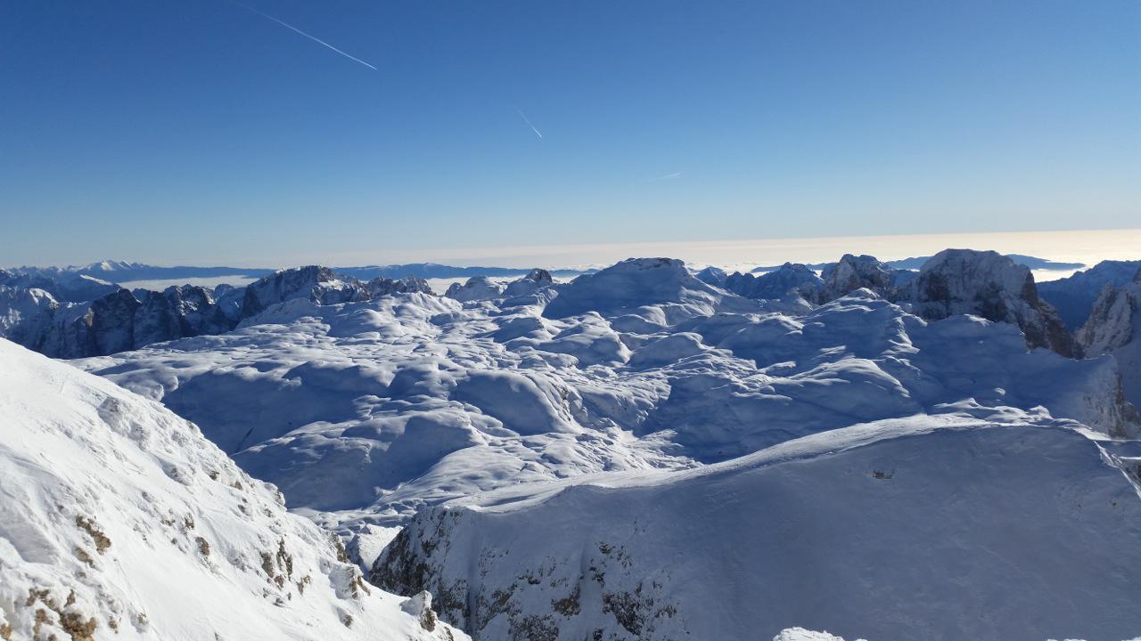 l'altopiano delle pale in inverno...