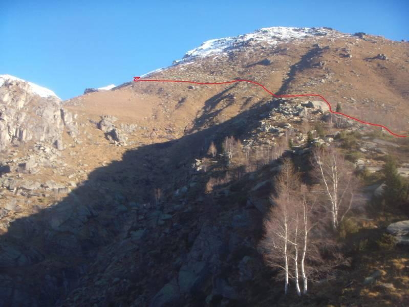 percorso sopra TESTAREBBO