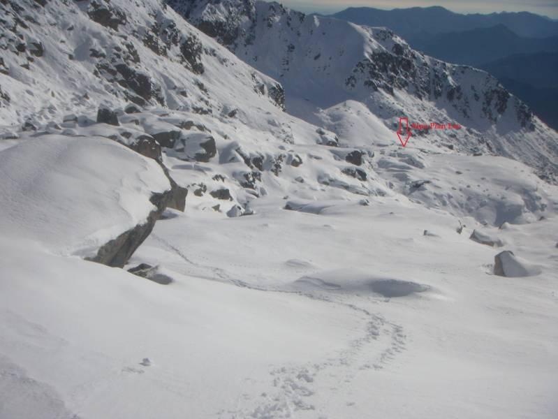dall'alpe Pian Lee all'attacco del canale