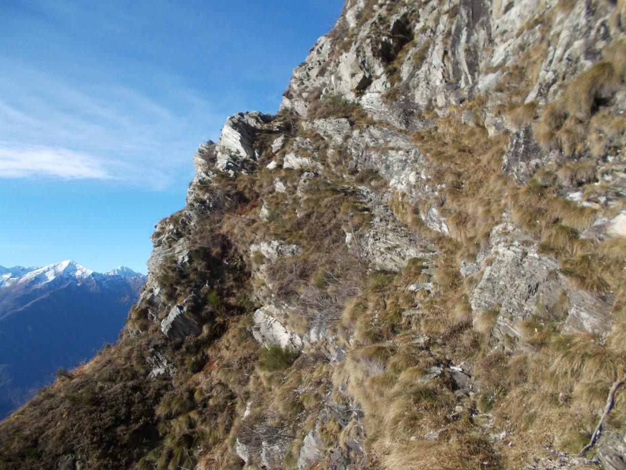 Il traverso dopo l'Alpe Colla (un tempo portavano le vacche ai pascoli di Curtet)