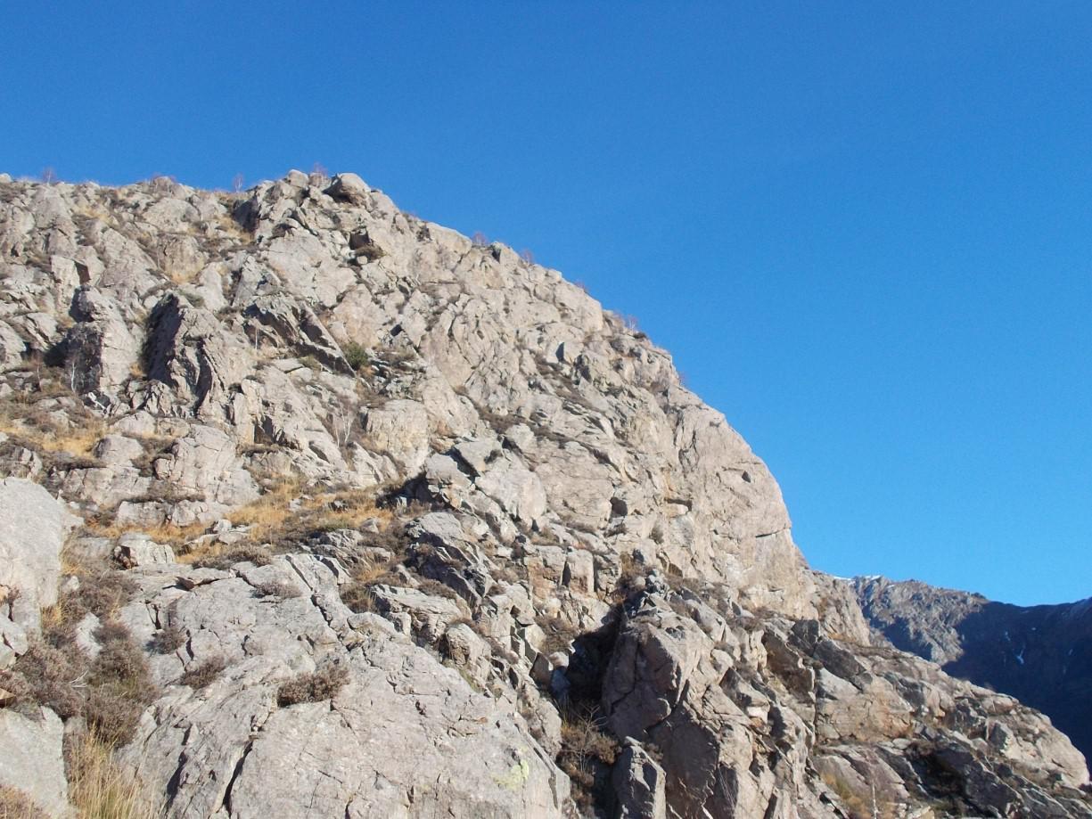A destra di queste rocce c'è la nuova Palestra della guida Paleari Alberto