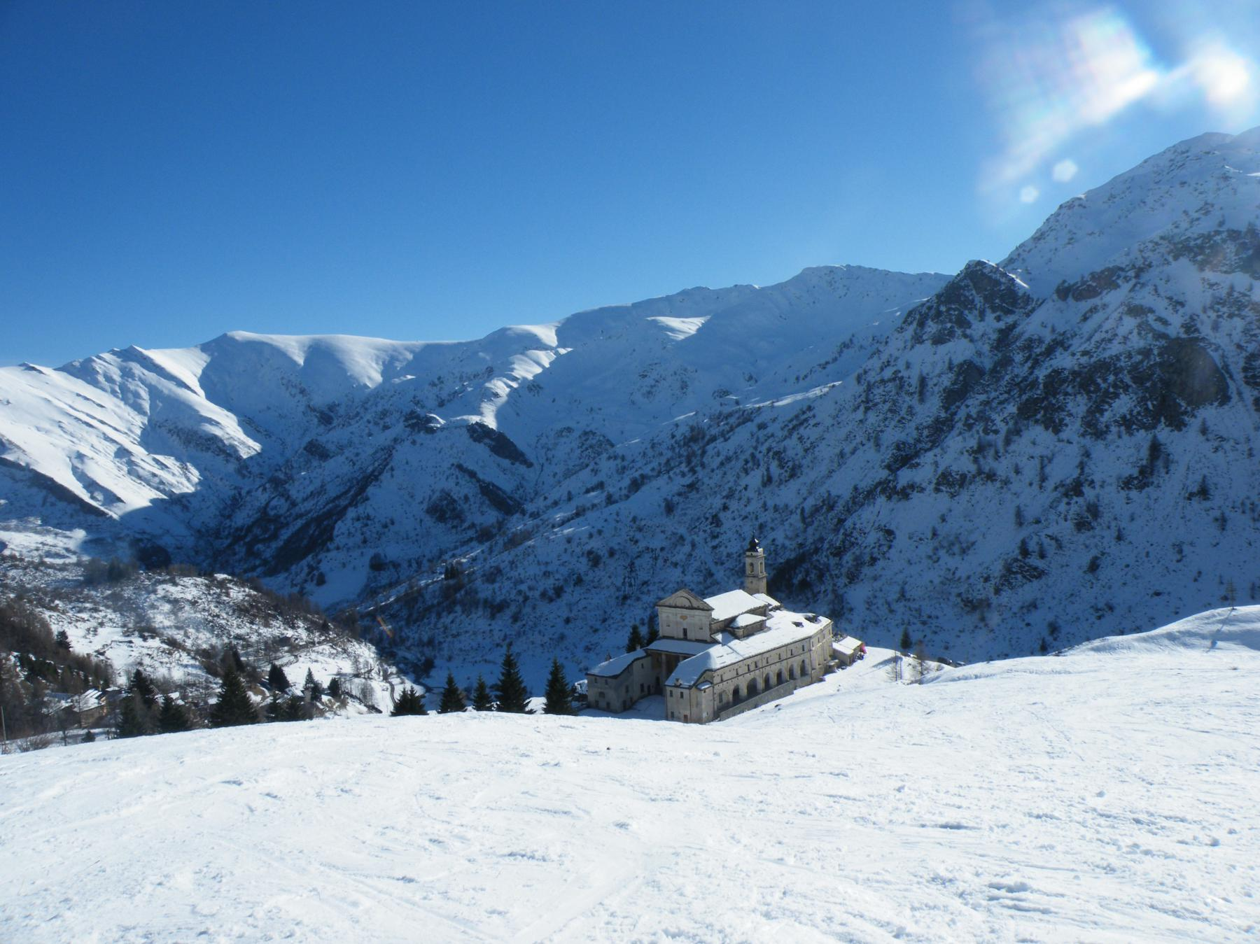 Poca neve al Santuario di S. Magno