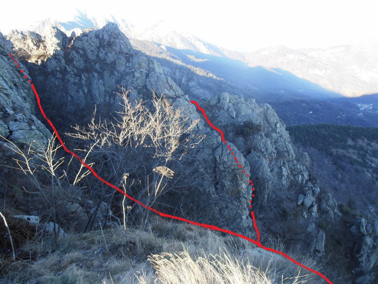 02 - varianti del sentiero Stella Polare per l'accesso diretto alla cima