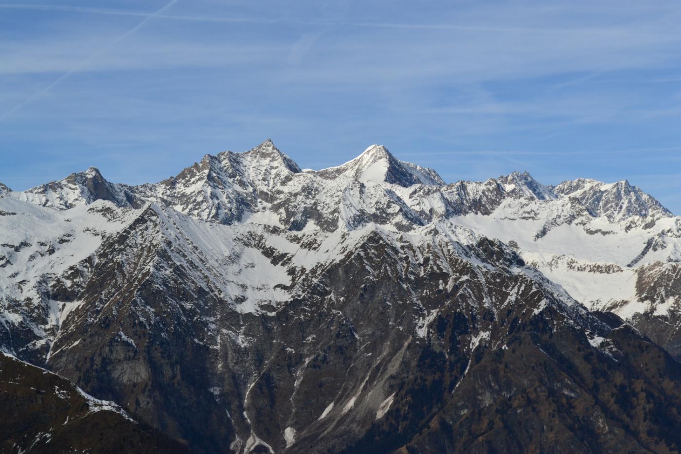 bel panorama verso Pizzo d'Andolla e Weissmies