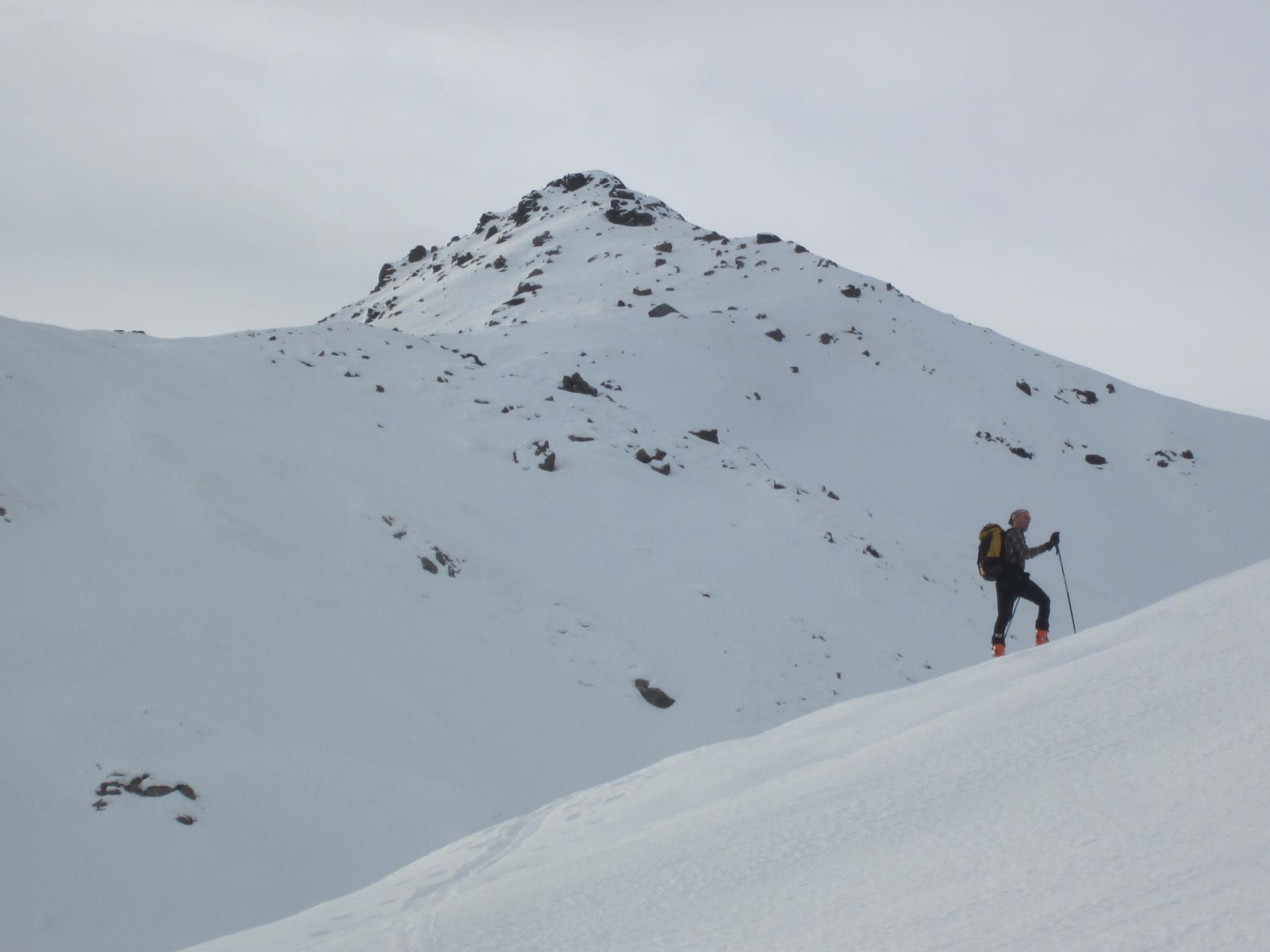 Pelata (Costa) quota 2478 m diretta NE da Meire Bigoire 2014-12-24