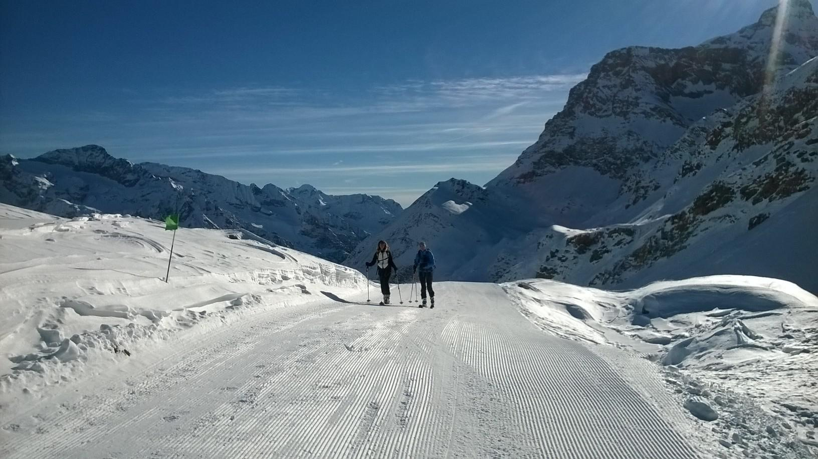 Ultimo tratto della pista riservata agli sci alpinisti