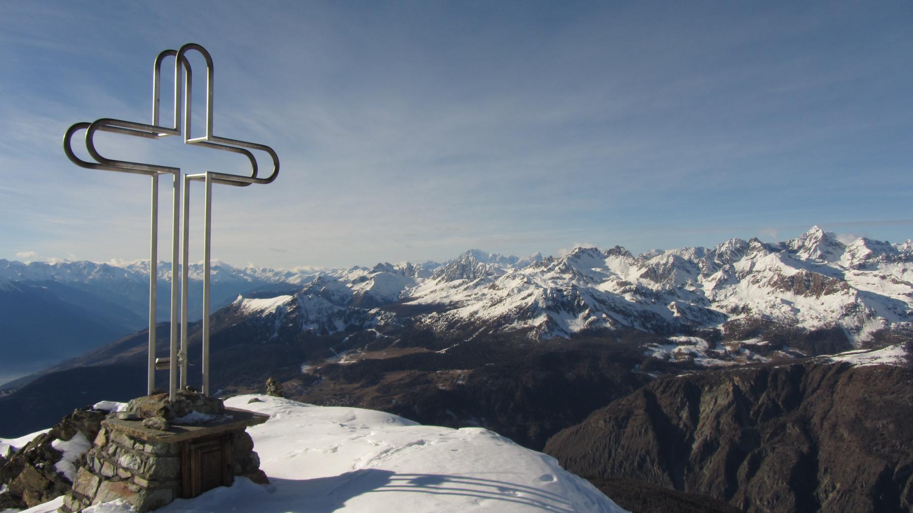 Magnifico panorama dalla cima