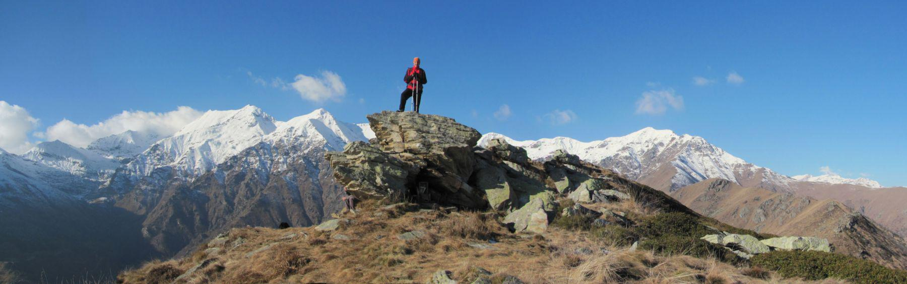 Sulla cima del Monte Servin